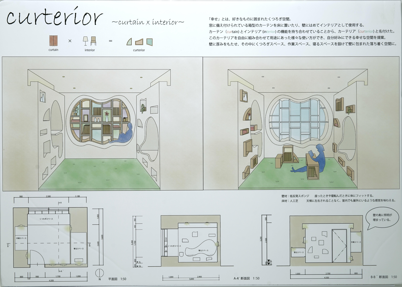 curterior ~curtain × interior~ 椙山女学園大学 梅村 真子・小倉 舞香